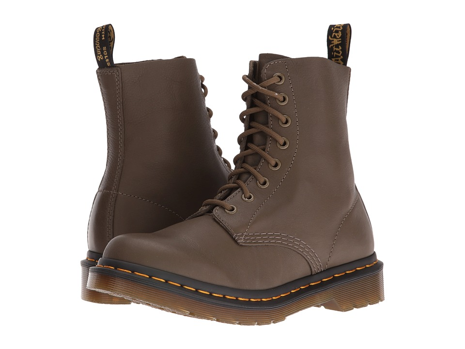 Dr. Martens - Pascal 8-Eye Boot (Grenade Green Virginia) Women's Lace-up Boots