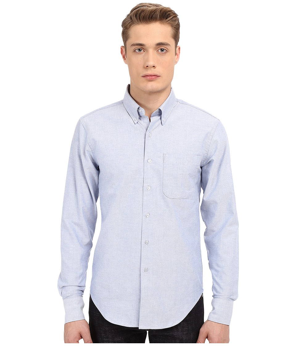 Naked & Famous - Regular Fit Oxford Shirt (Blue) Men's Long Sleeve Button Up