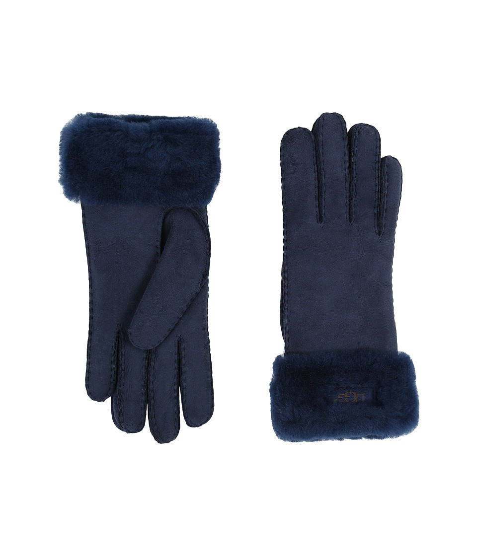 UGG - Classic Turn Cuff Glove (Indigo) Extreme Cold Weather Gloves