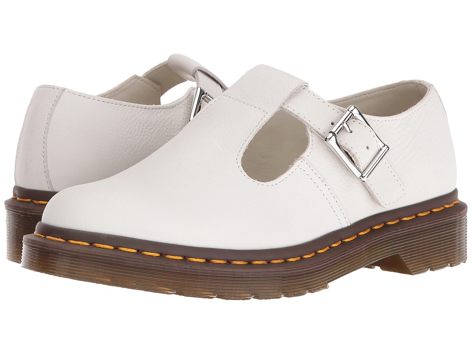 Dr. Martens - Polley T-Bar Mary Jane (White Virginia) Women's Maryjane Shoes