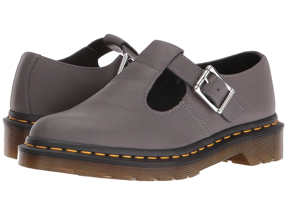 Dr. Martens - Polley T-Bar Mary Jane (Lead Virginia) Women's Maryjane Shoes