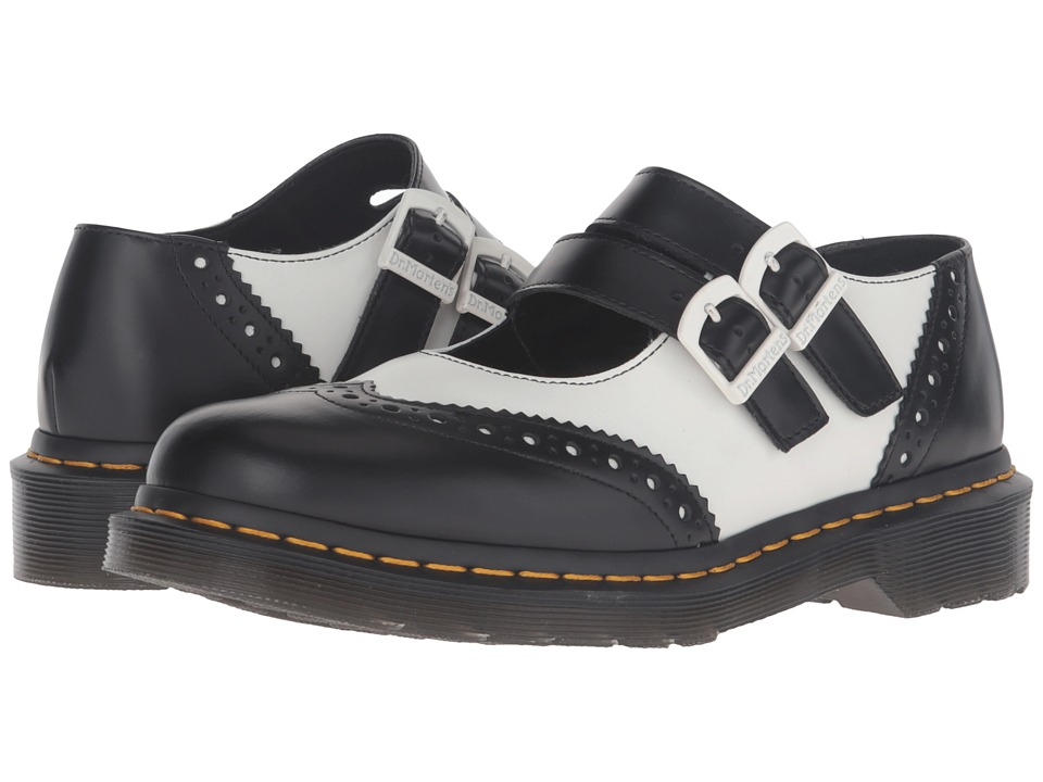 Dr. Martens - Adena II Double Strap Mary Jane (Black Smooth) Women's Maryjane Shoes