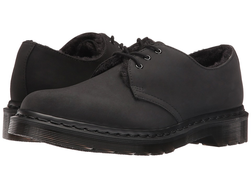 Dr. Martens - 1461 FL 3-Eye Shoe (Black Cascade Split) Women's Lace up casual Shoes