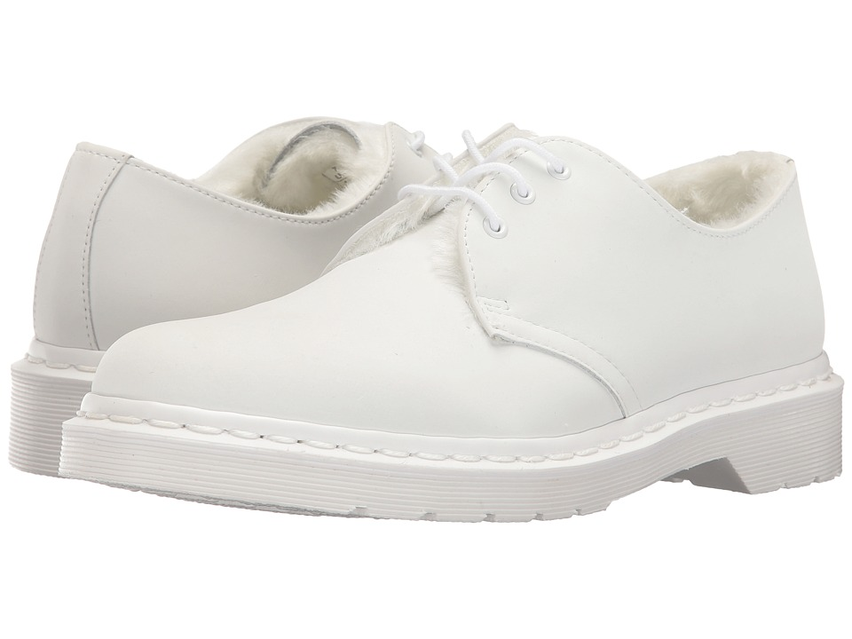 Dr. Martens 1461 FL 3-Eye Shoe (White Cascade Split) Women