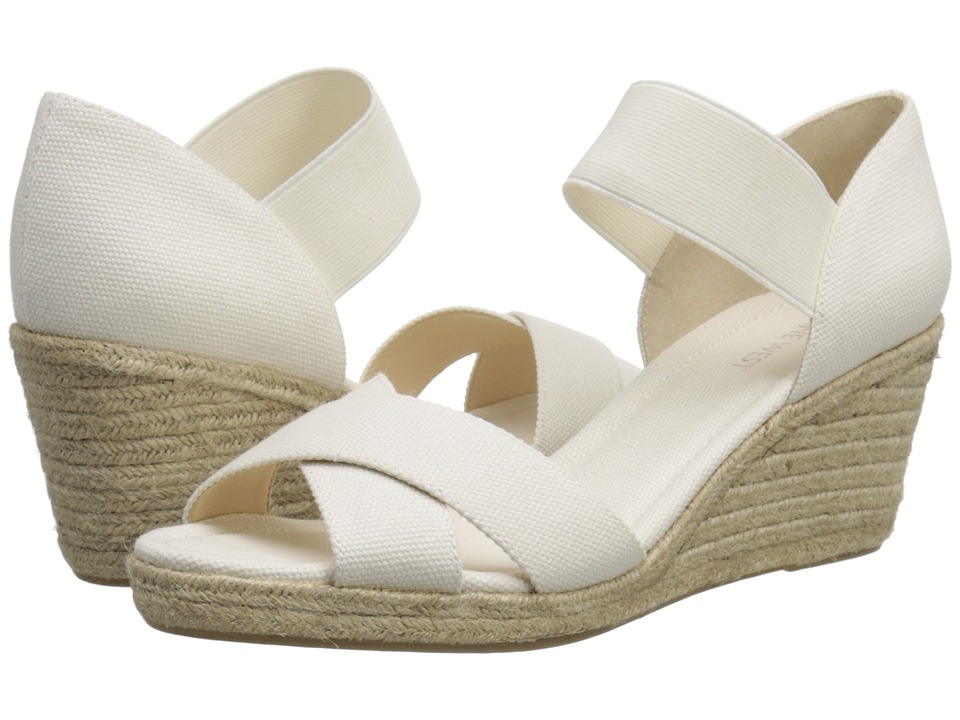 Nine West - Renu (White/White Canvas) Women's Shoes