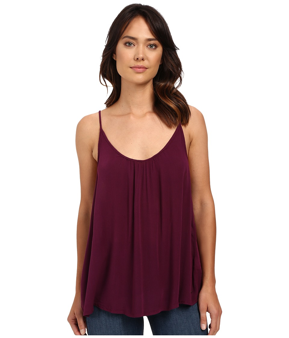 Roxy - Sea to Sea Woven Top (Italian Plum) Women's Sleeveless