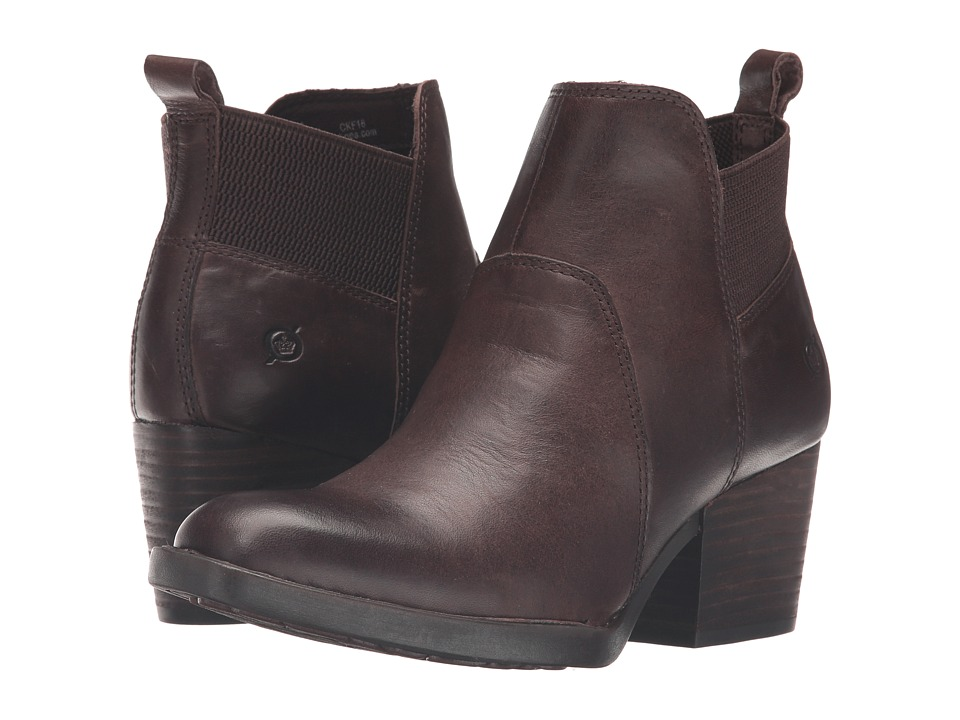 Born - Garcia (Chocolate Full Grain Leather) Women's Boots
