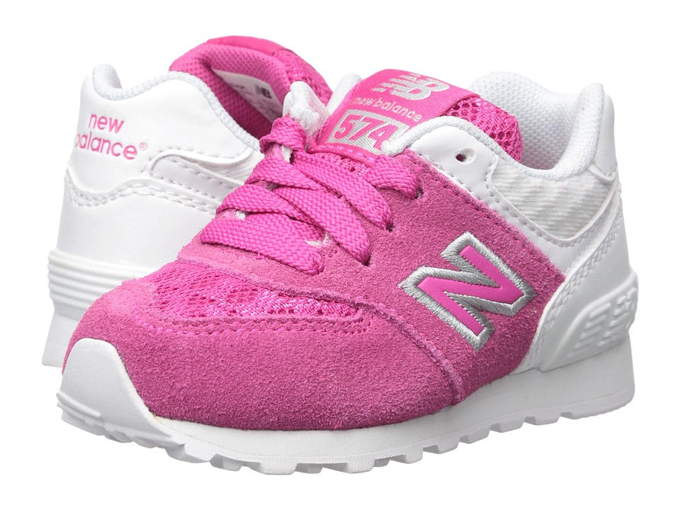 New Balance Kids - 574 Breathe (Infant/Toddler) (Pink/White) Girls Shoes