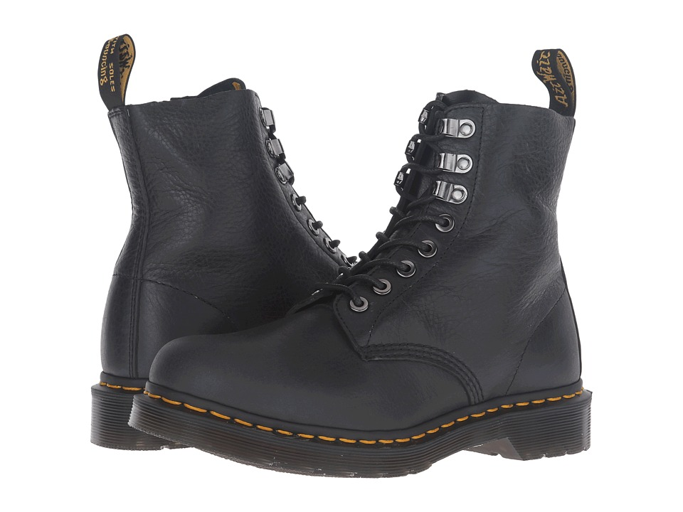 Dr. Martens - Pascal PM 8-Eye Boot (Graphite Grey Naturesse) Women's Lace-up Boots