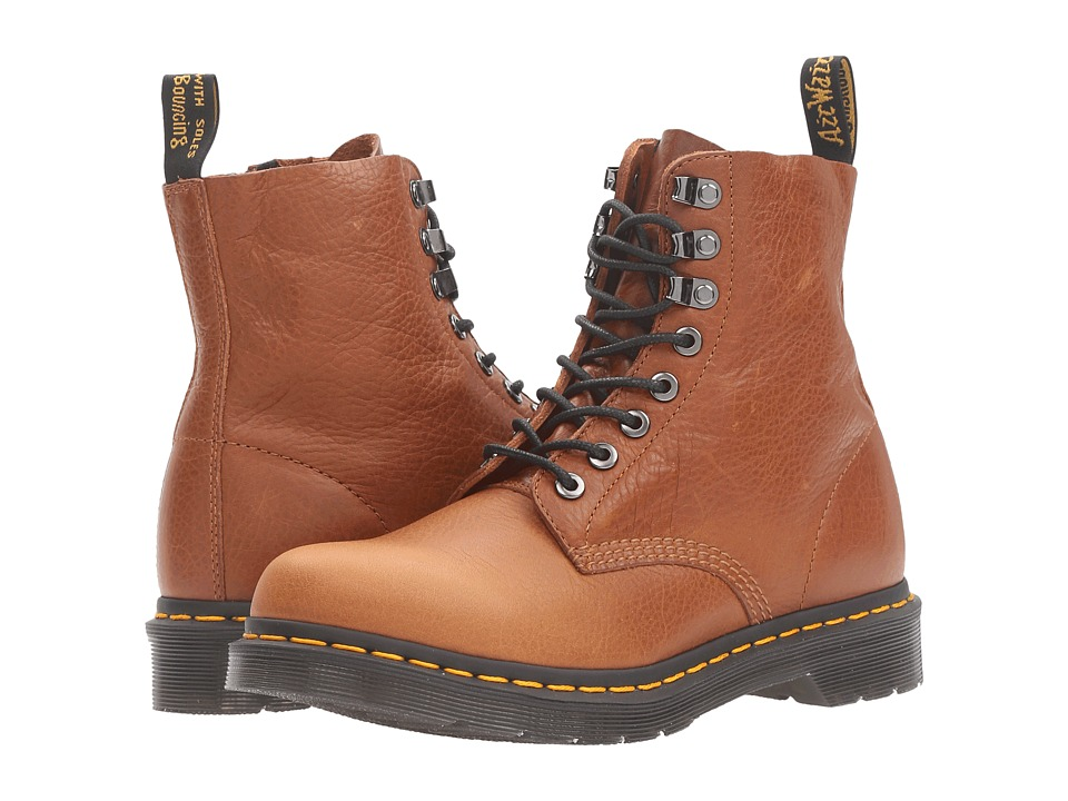 Dr. Martens - Pascal PM 8-Eye Boot (Tan Naturesse) Women's Lace-up Boots