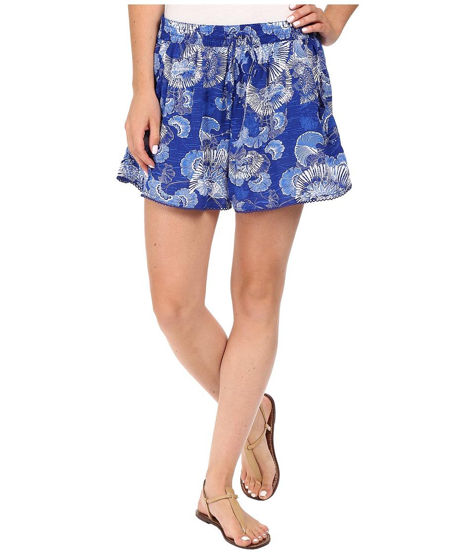 Roxy - Half Ruby Skort (Perpetual Flower Blue Print) Women's Skort