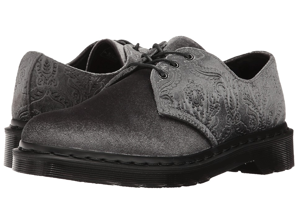 "Dr. Martens - 1461 Velvet 3-Eye Shoe (Grey Velvet 56"") Women's Lace up casual Shoes"