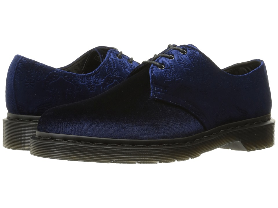 "Dr. Martens - 1461 Velvet 3-Eye Shoe (Navy Velvet 56"") Women's Lace up casual Shoes"