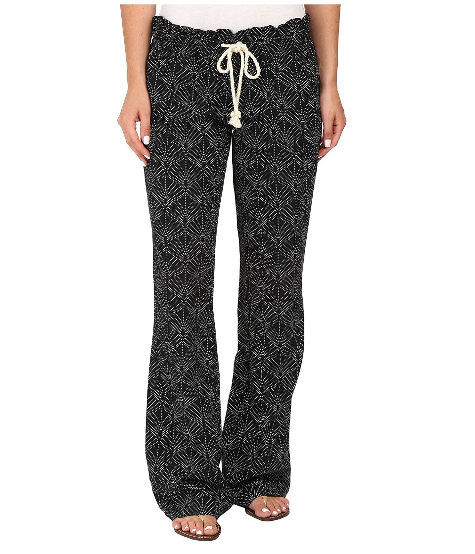 Roxy - Oceanside Printed Pants (In the Breeze/True Black) Women's Casual Pants