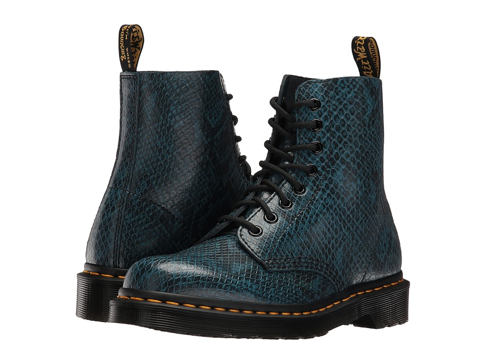 Dr. Martens - Pascal ASP 8-Eye Boot (Lake Blue Viper) Women's Lace-up Boots