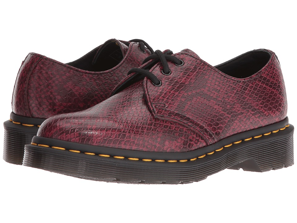Dr. Martens 1461 Viper 3-Eye Shoe (Wine Viper) Women