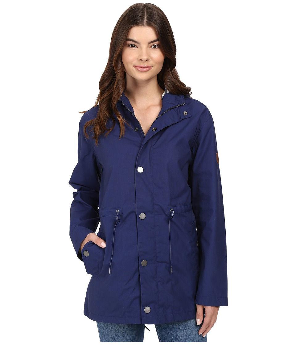 Roxy - Glassy Ballina Raincoat (Blue Print) Women's Coat