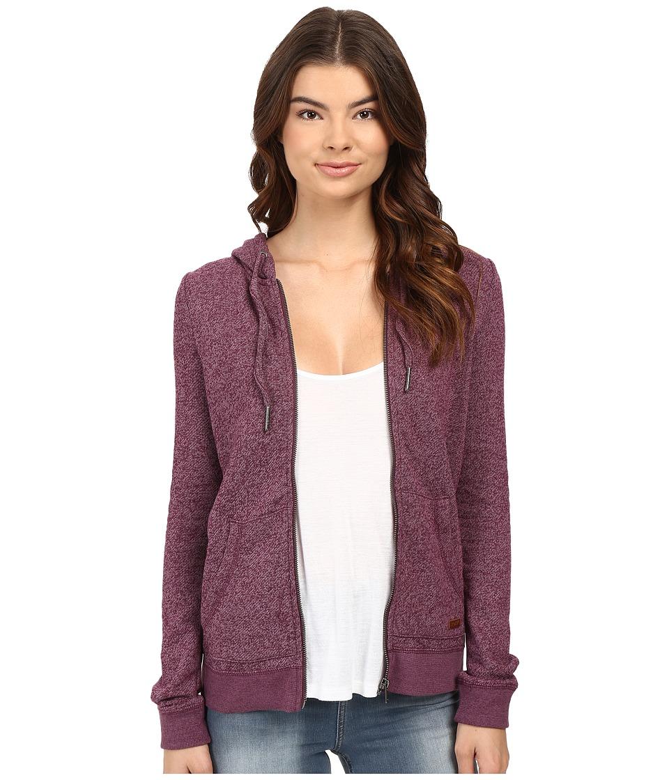 Roxy - Signature Hoodie (Italian Plum) Women's Sweatshirt