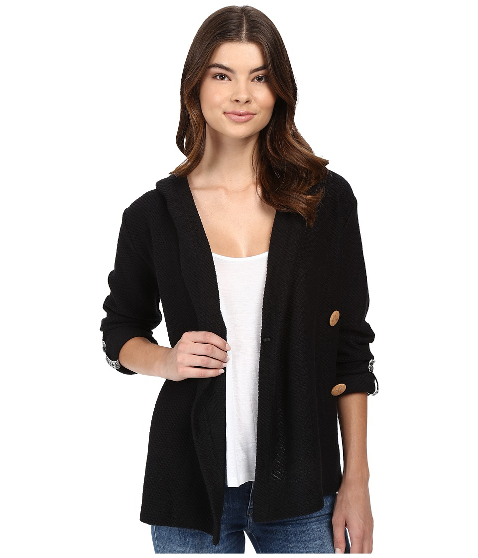 Roxy - Knot A Care Cardigan (True Black) Women's Sweater