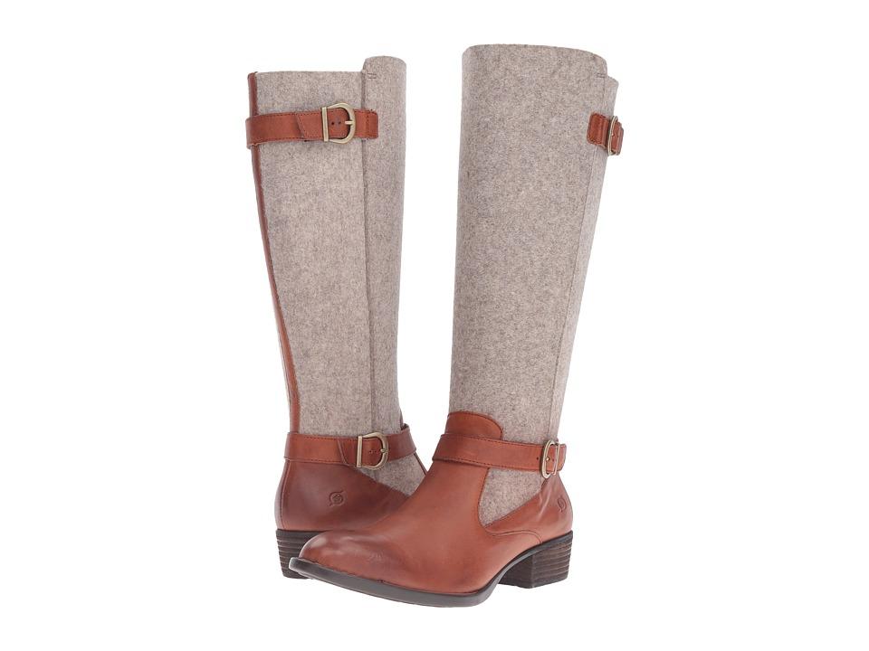 Born - Oswego (Cognac/Natural Felt Combo) Women's Boots