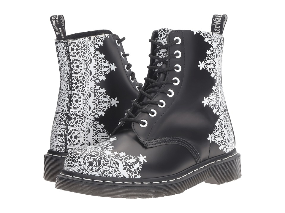 Dr. Martens - Pascal Lace 8-Eye Boot (Black Smooth) Women's Lace-up Boots