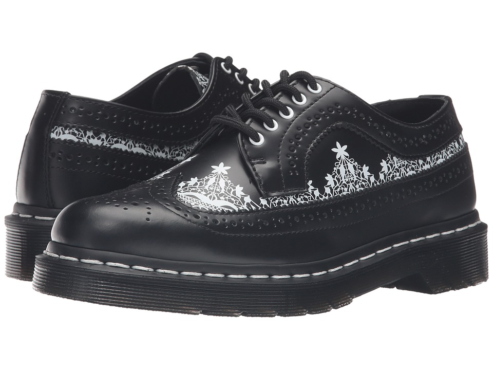 Dr. Martens - 3989 Lace Wingtip Shoe (Black Smooth) Women's Lace up casual Shoes