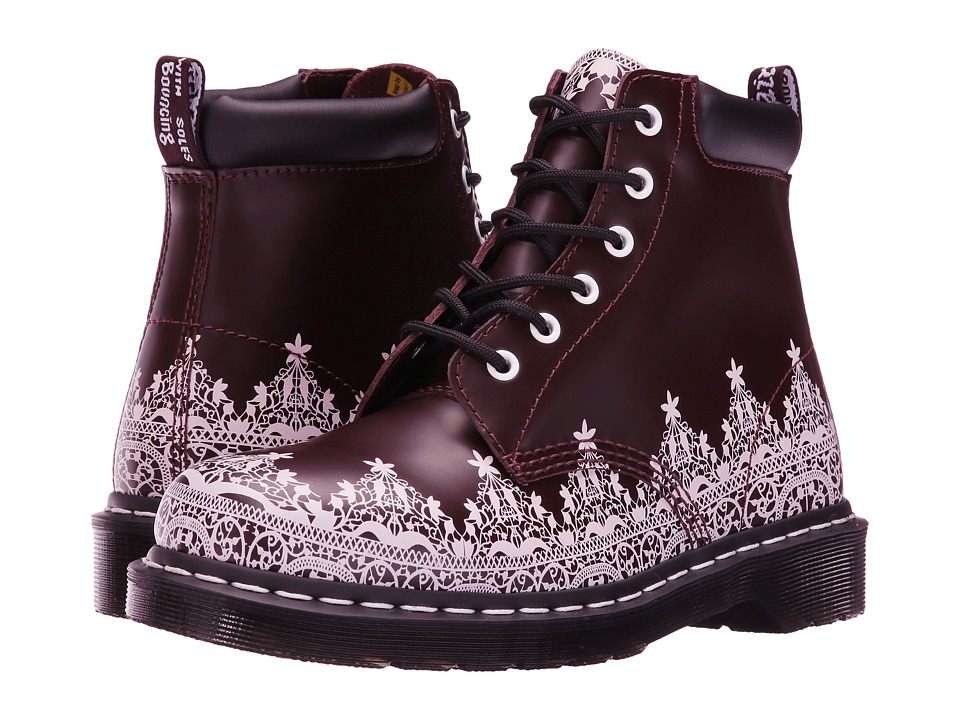 Dr. Martens - 939 Lace 6-Eye Hiker Boot (Oxblood Smooth) Women's Lace-up Boots