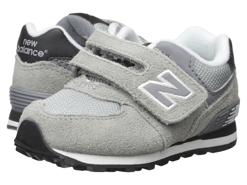 New Balance Kids - 574 (Infant/Toddler) (Grey/Black) Boys Shoes