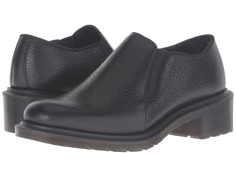 Dr. Martens - Rosyna Double Gusset Shoe (Black Stone) Women's Slip on Shoes