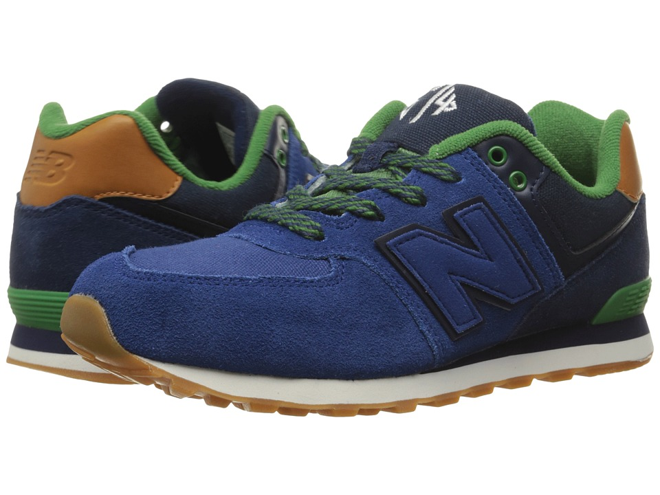 New Balance Kids - 574 New England (Big Kid) (Blue/Green) Boys Shoes