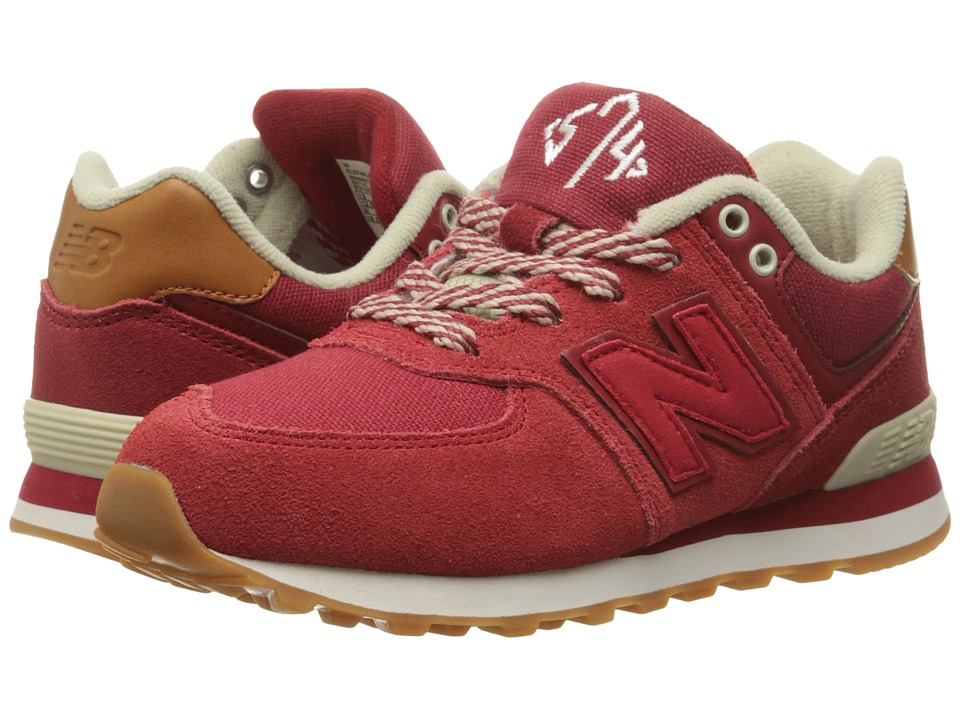 New Balance Kids - 574 New England (Big Kid) (Red/Yellow) Boys Shoes