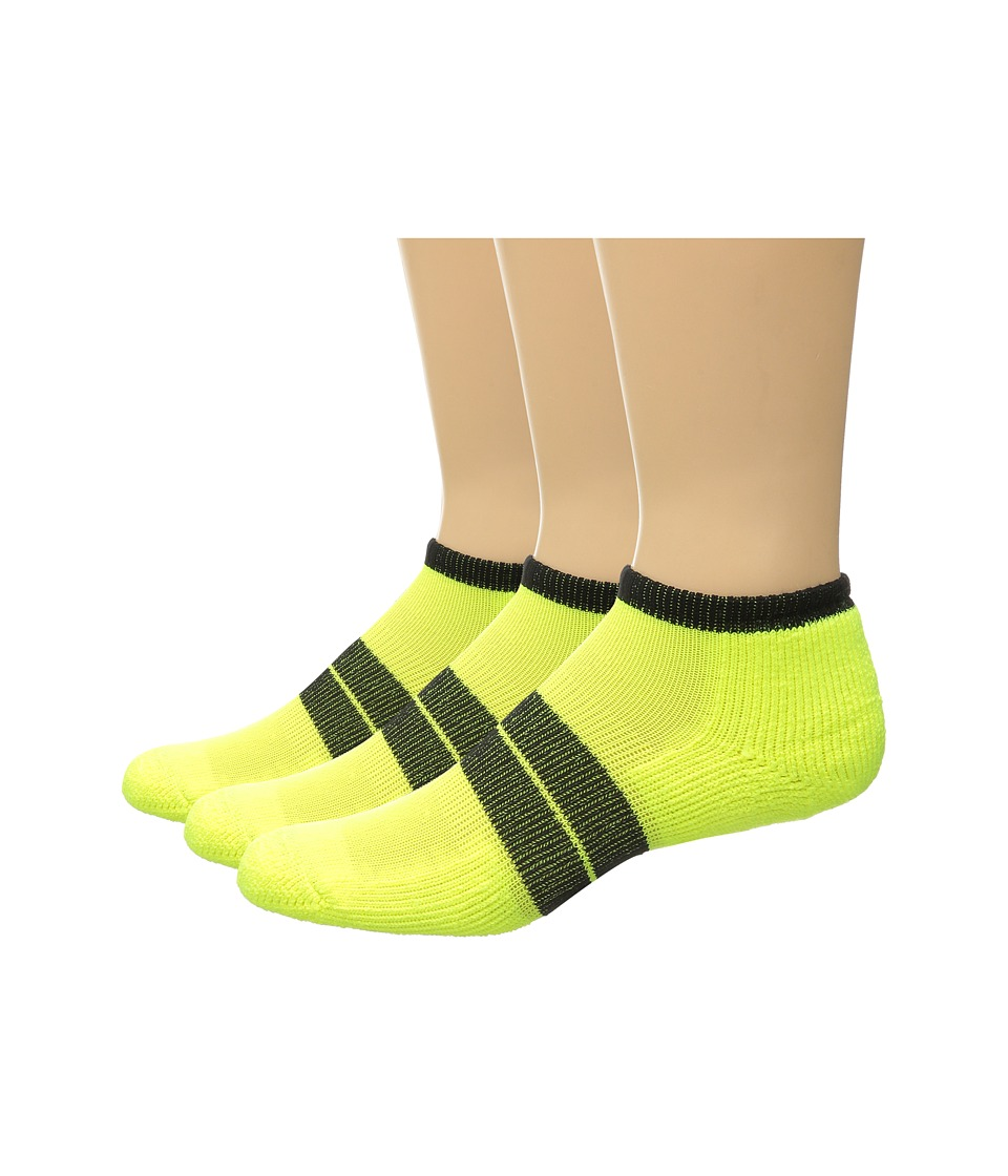 Thorlos - 84 N Runner Micro Mini 3-Pack (Electric Yellow/Black) Men's Low Cut Socks Shoes