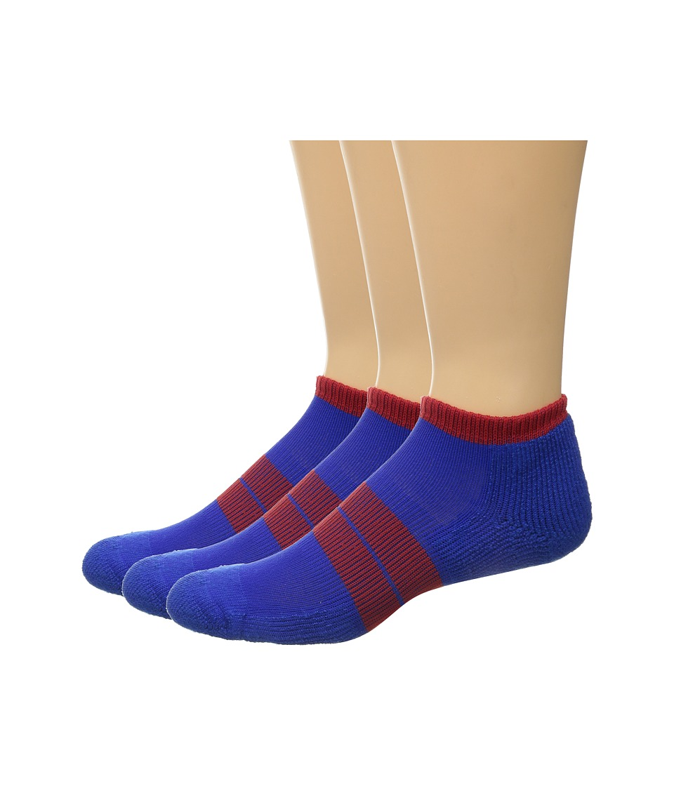 Thorlos - 84 N Runner Micro Mini 3-Pack (Royal/Red) Men's Low Cut Socks Shoes