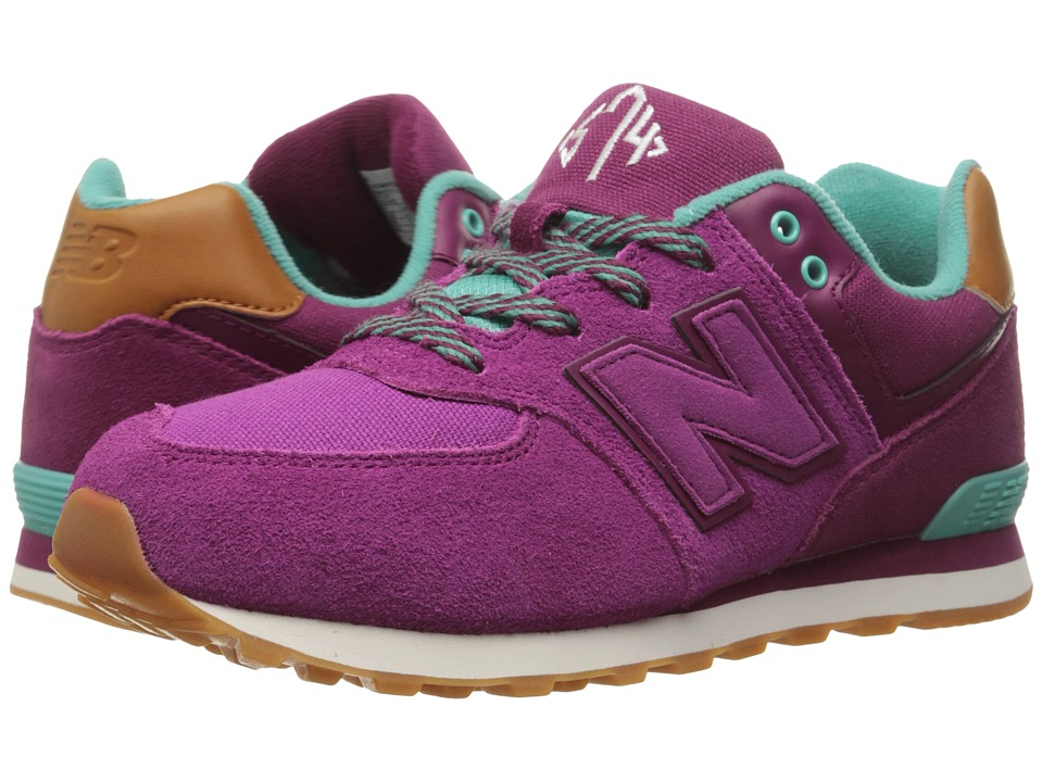 New Balance Kids - 574 New England (Big Kid) (Purple/Blue) Girls Shoes
