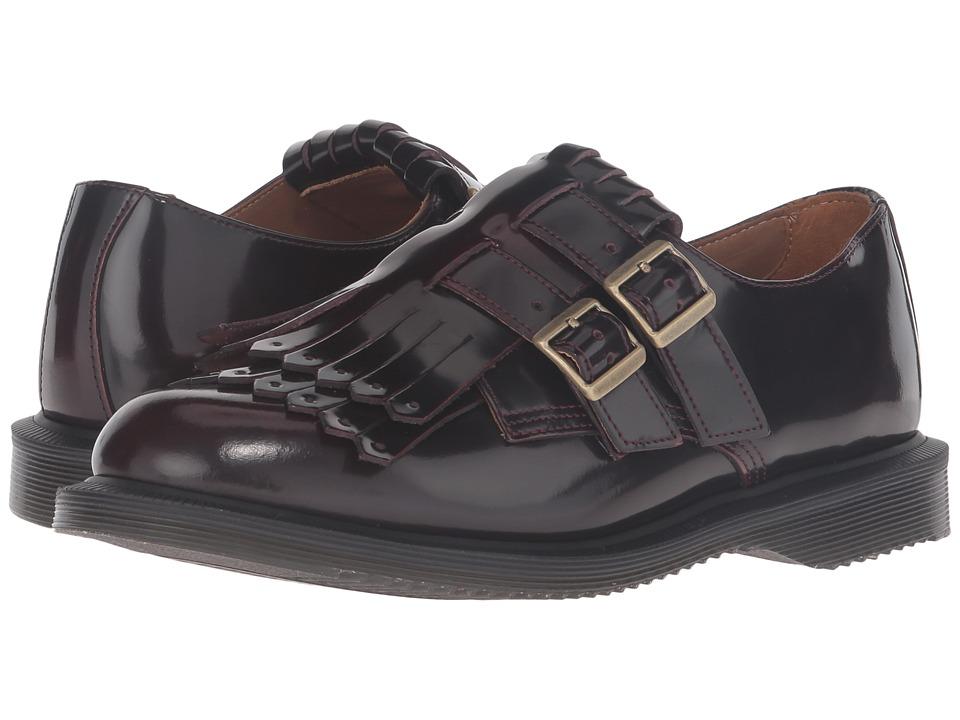 Dr. Martens - Ellaria Double Monk Strap w/ Kiltie (Cherry Red Arcadia) Women's Monkstrap Shoes