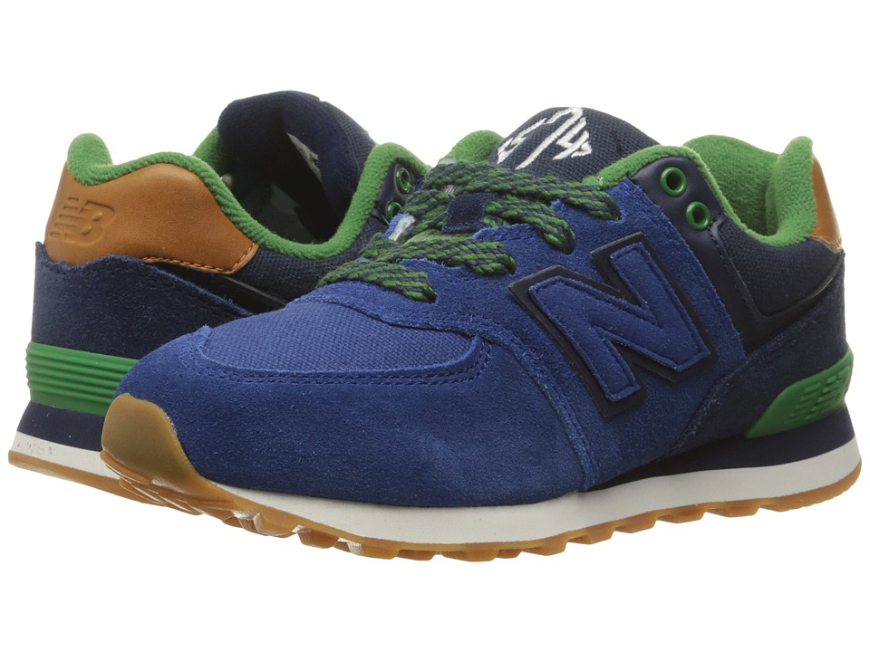New Balance Kids - 574 New England (Little Kid) (Blue/Green) Boys Shoes