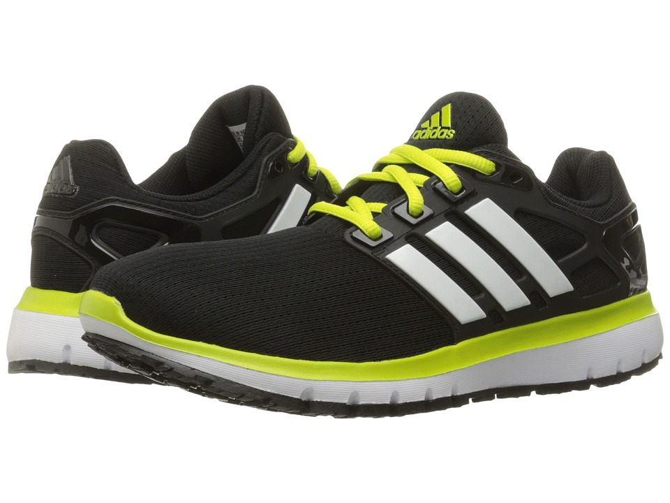 adidas Running - Energy Cloud (Black/White/Lime) Men's Shoes