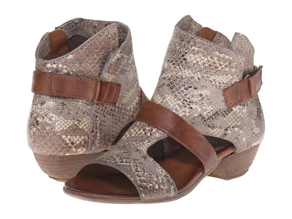 Miz Mooz - Corgan (Stone Snake) Women's Dress Sandals