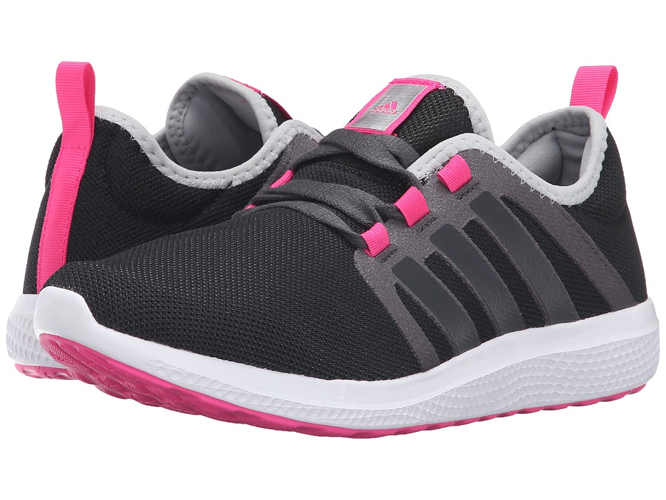 adidas - Fresh Bounce (Black/Pink) Women's Shoes