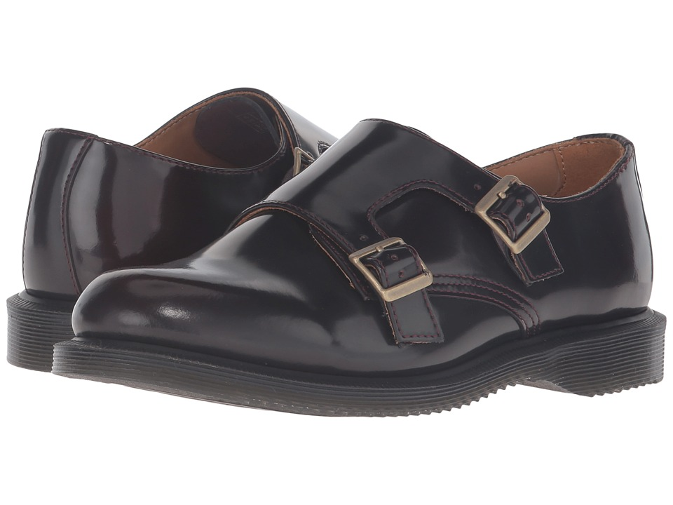 Dr. Martens - Pandora Double Monk Strap (Cherry Red Arcadia) Women's Monkstrap Shoes