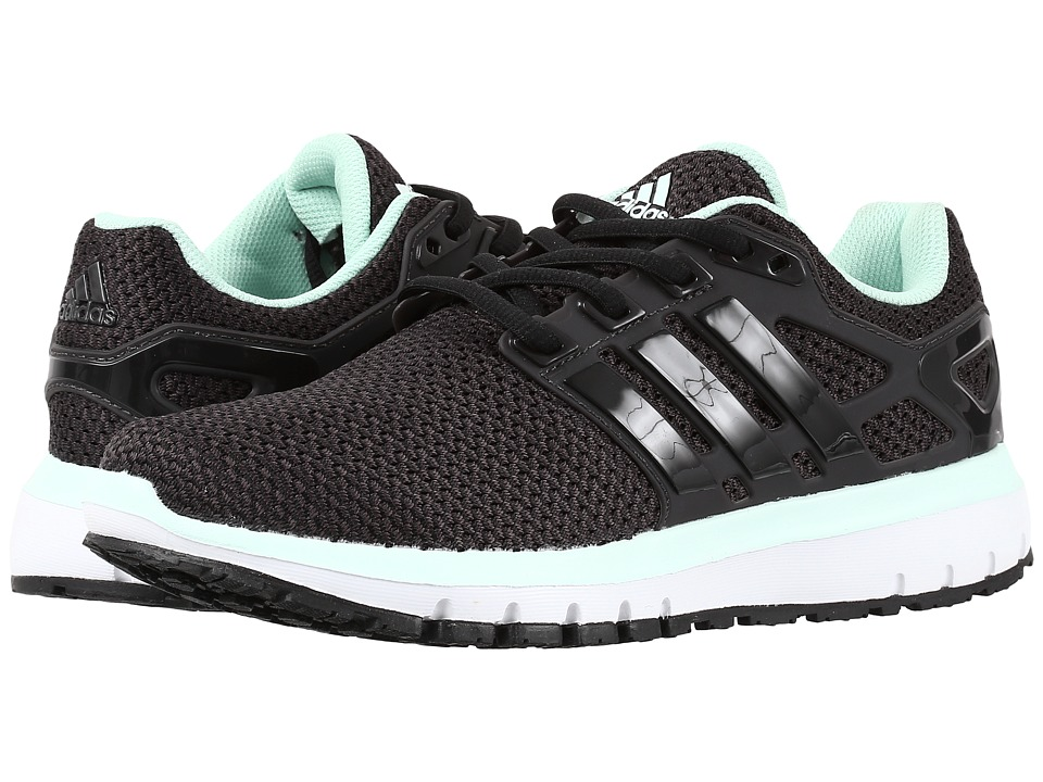 adidas - Energy Cloud (Black/Black/Green) Women's Shoes