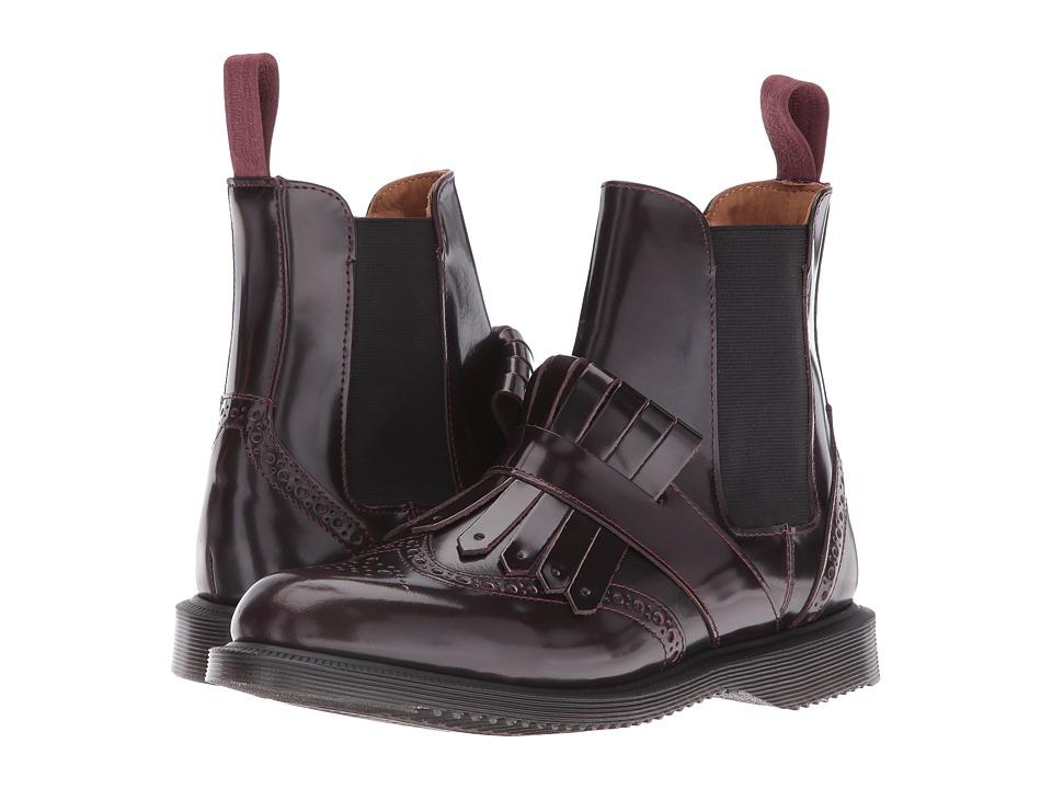 Dr. Martens - Tina Brogue Chelsea w/ Kiltie (Cherry Red Arcadia) Women's Boots