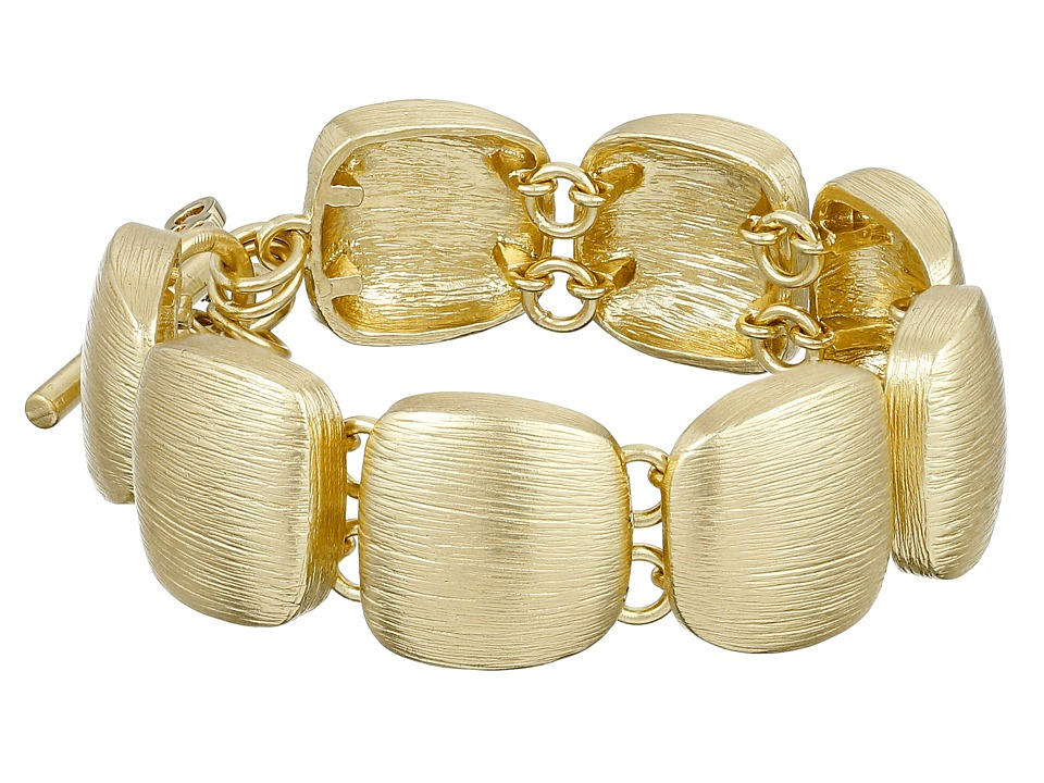 Cole Haan - Geometric Link Bracelet (Brushed Gold) Bracelet