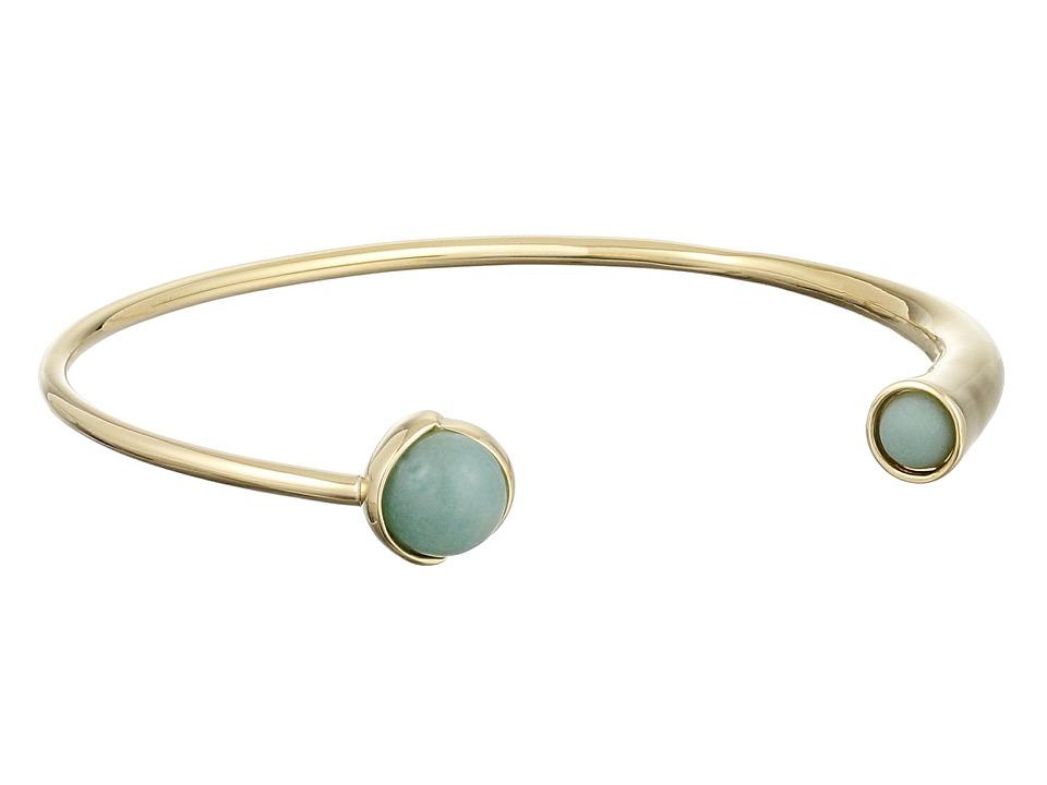 Cole Haan - Stone Open C Cuff Bracelet (Gold/Amazonite/Green) Bracelet