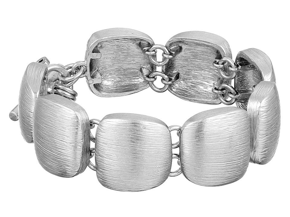 Cole Haan - Geometric Link Bracelet (Brushed Silver) Bracelet