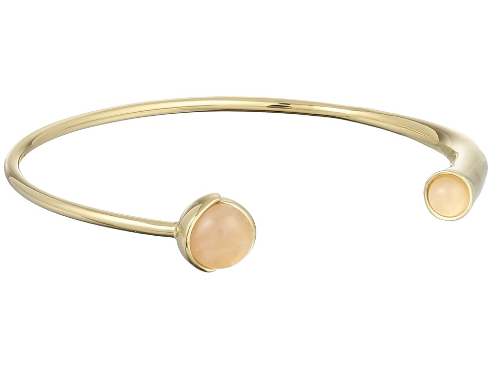 Cole Haan - Stone Open C Cuff Bracelet (Gold/Rose Quartz/Peach) Bracelet