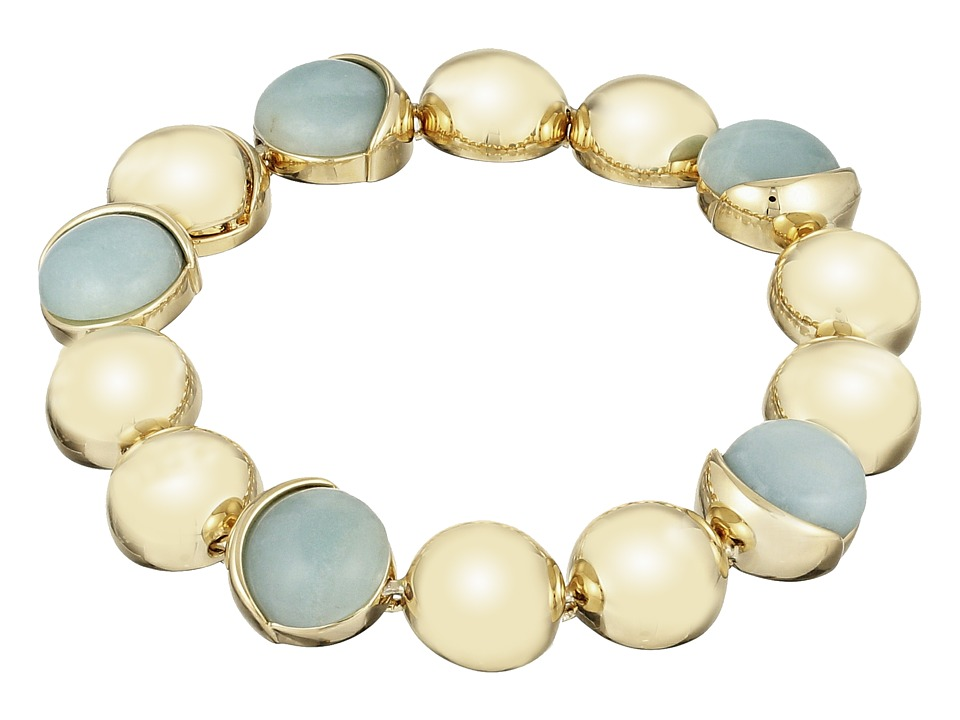 Cole Haan - Metal Stone Line Bracelet (Gold/Amazonite/Green) Bracelet