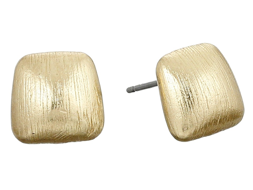 Cole Haan - Smooth Metal Stud Earrings (Brushed Gold) Earring