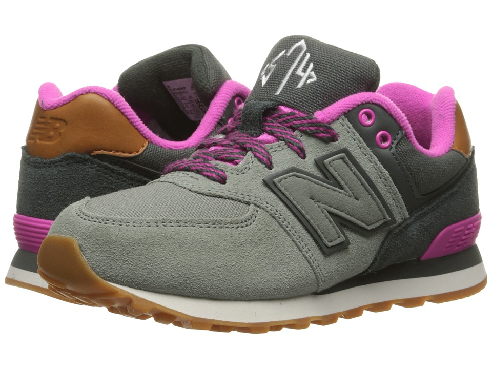 New Balance Kids - 574 New England (Little Kid) (Grey/Pink 2) Girls Shoes