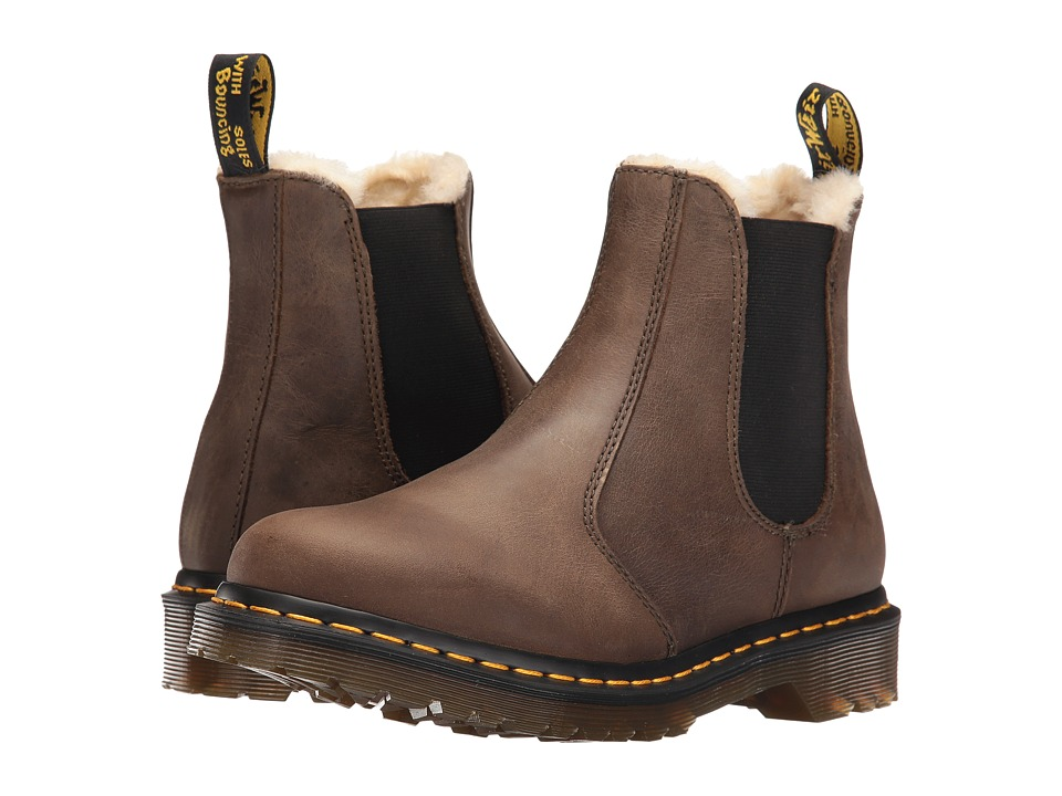 Dr. Martens - Leonore Chelsea Boot (Grenade Green Wildhorse) Women's Pull-on Boots